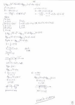 1/2log x-2 (x^2-10x+25)+log 5-