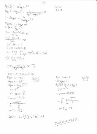 log3 3/x^2+4/(1+log3 9x)>=0